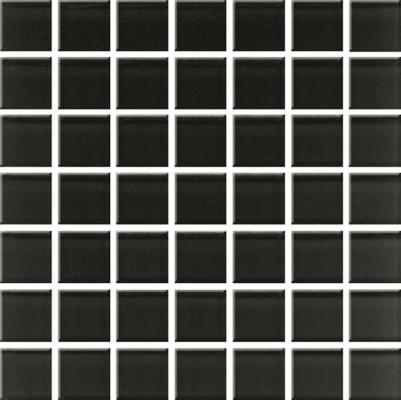 Domenico black glass mosaic 20x20
